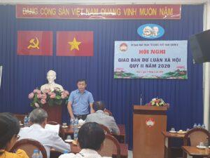 ông Trần Nam Đức - Phó Chủ tịch Ủy ban MTTQ Việt Nam Quận 5 phát biểu kết thúc Hội nghị